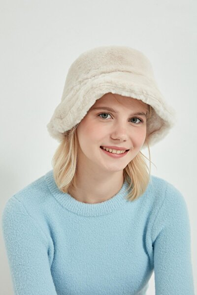 12839-1 Bej Renk Bucket Şapka