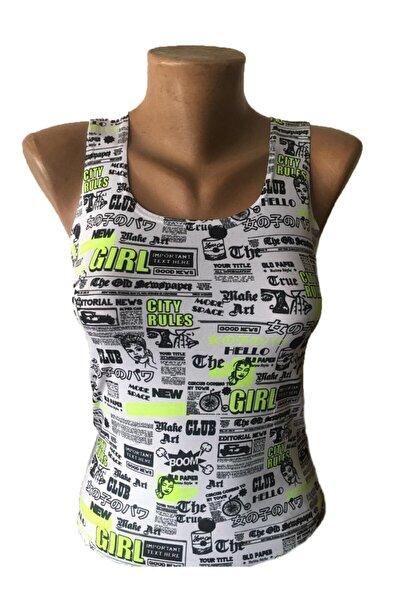 Kadın Askılı Gırl Crop T-shirt
