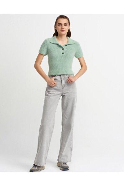 Kadın Gri Renk Uzun Pantolon