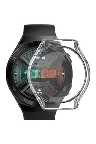 Huawei Watch Gt 2e 46 mm Uyumlu Şeffaf 360 Koruma Silikon Kılıf