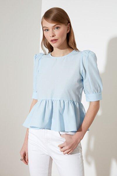 Mavi Fırfır Detaylı Bluz TWOSS20BZ0494