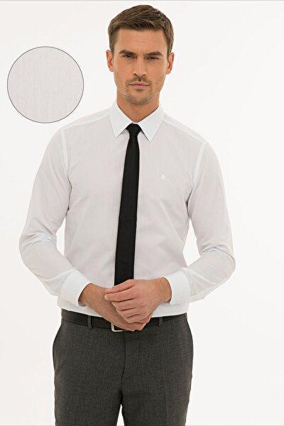 Erkek Beyaz Slim Fit Basic Gömlek G021GL004.000.1214451