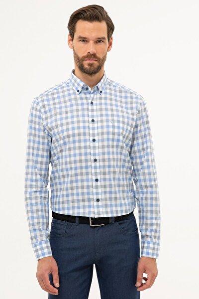 Erkek Mavi Regular Fit Gömlek G021GL004.000.1113560