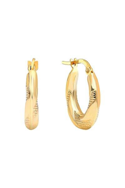Gelin Diamond 14 Ayar Altın Halka Küpe (1.5 cm)