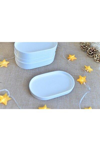 Porselen Oval Tabak 20 cm X 12 cm