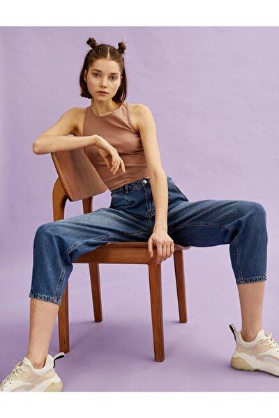Kadın Orta Indigo Jeans