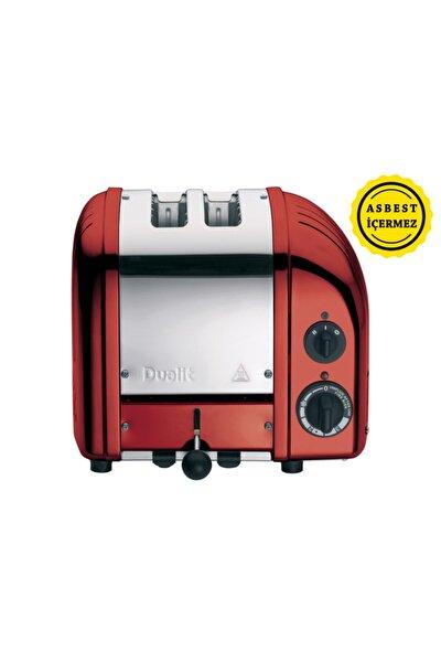 2 Hazneli Classic 27031 El Yapımı Kırmızı Rengi Ekmek Kızartma Makinesi