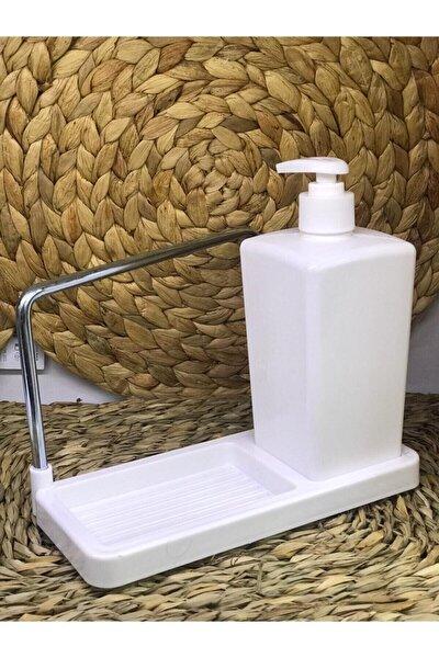 Beyaz Mutfak Tezgah Üstü Sabunluk,süngerlik,el Bezi Askılık W.h