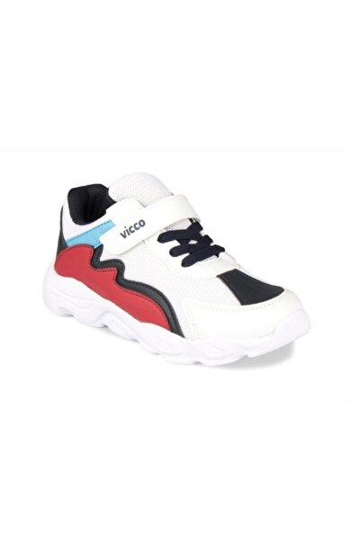 Neon Erkek Çocuk Beyaz-lacivert-kırmızı Spor Ayakkabı