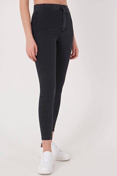 Kadın Füme Yüksek Bel Pantolon Pn10915 - G8Pnn Adx-0000013630
