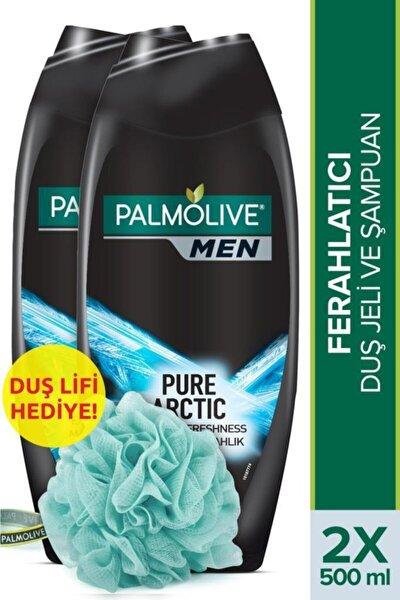 Men Pure Artric  2'si 1 Arada Duş Jeli ve Şampuan 500 ml x 2 Adet + Duş Lifi Hediye