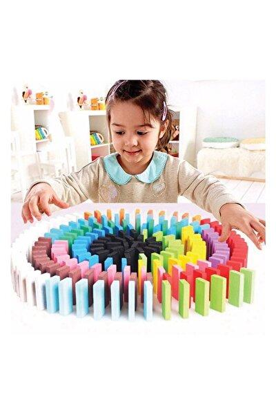 100 Parça Renkli Ahşap Domino