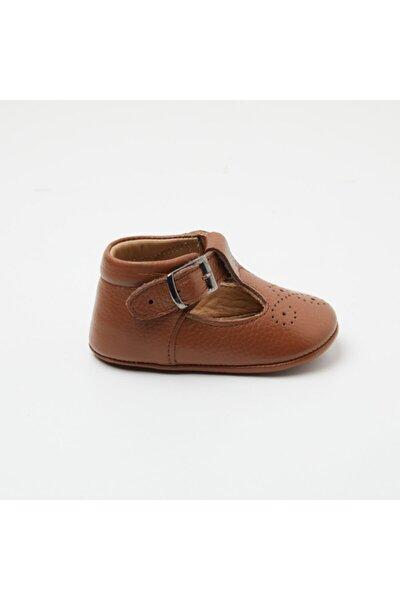 Taba Deri Oxford Delikli Bebek Ayakkabısı