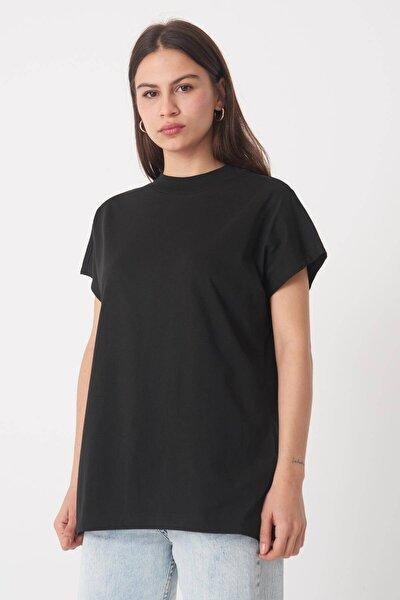 Kadın Siyah Basic T-Shirt P0769 - U13 Adx-0000020933