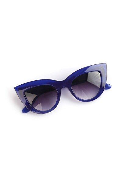 Kadın Cat Eye Gözlük Yuvarlak Model Lacivert