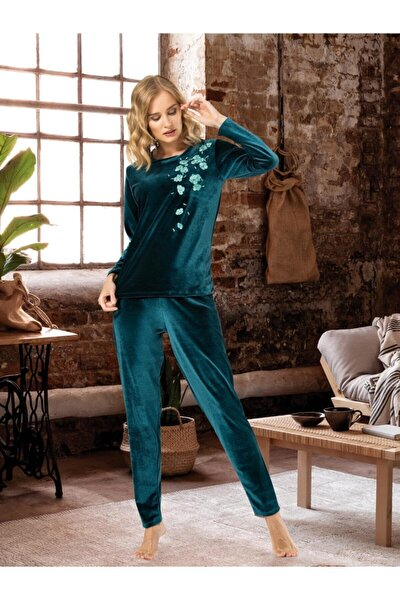 Kadın Yeşil Pijama Takımı