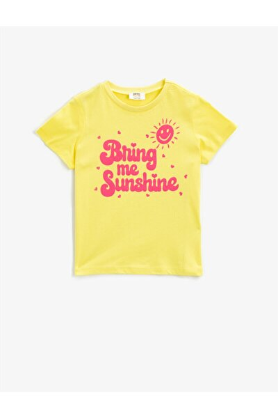Kız Çocuk Sarı T-Shirt