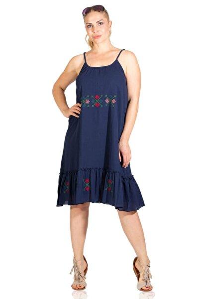 Işıl Şile Bezi Elbise Lacivert
