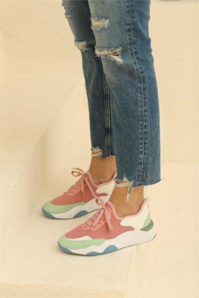 Dagian Kadın Spor Ayakkabı Pudra Renkli