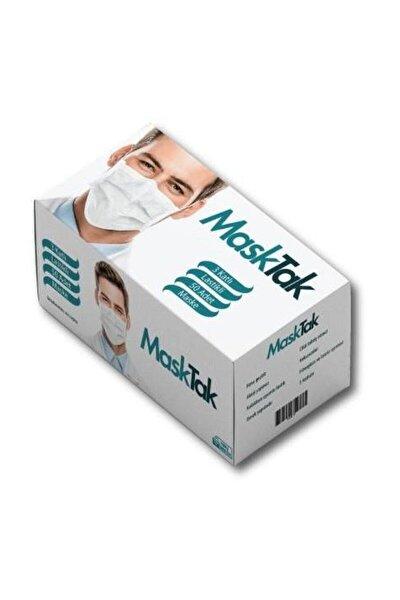 3 Katlı Telli Cerrahi Maske 50 Li Kutu Burun Lastikli