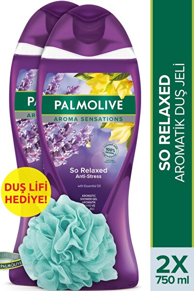 Aroma Sensations So Relaxed Aromatik Banyo Ve Duş Jeli 2 X 750 ml + Duş Lifi Hediye