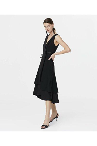 Kurdela Şeritli Anvelop Elbise