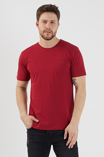 SANDER Erkek T-Shirt Bordo ST11TE083