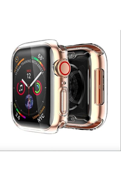 Apple Watch Şeffaf Silikon Kılıf 42mm Tam Koruma Apple Watch 3 4 5