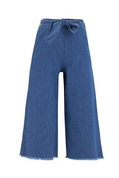 Kız Çocuk Mavi Culotte Jean Pantolon