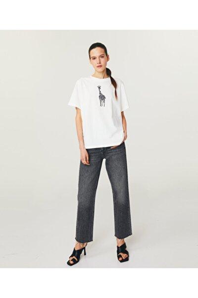 Zürafa Baskılı Basic T-shirt