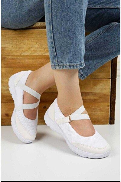Kadın Beyaz Ortopedik Günlük Spor Ayakkabı