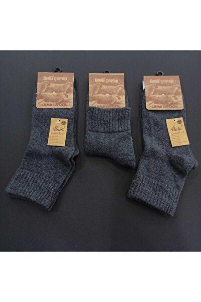 Erkek Yün Bilek Füme Çorap Renk 3'lü