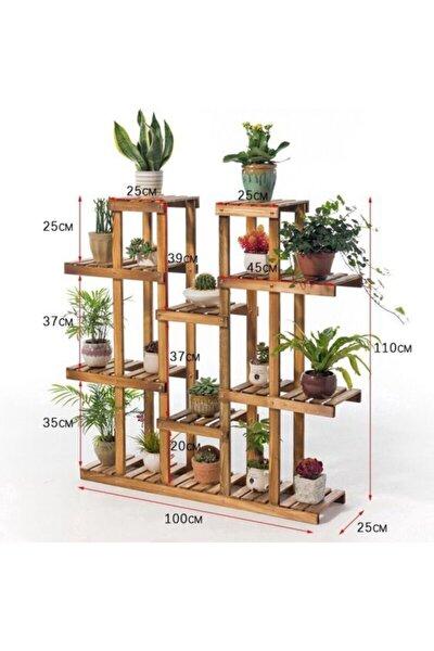 Ahşap Çiçeklik Kitaplık Saksılık Balkon Bahçe Standı Çeşitleri Çiçek Sehpası Rafı Modelleri