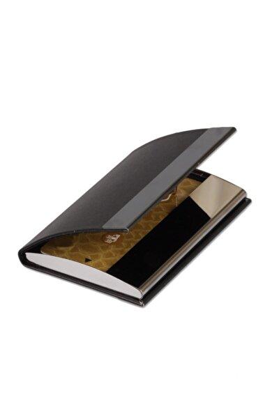 Mıknatıslı Metalik Siyah Kredi Kartlık - Kartvizitlik - Italyan Tarzı