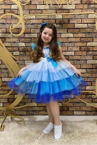 Elsa Pul Payet Tütü Kız Çocuk Elbise