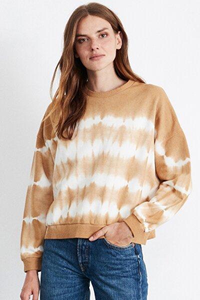 Emma Kadın Sarı Yıkamalı Sweatshirt
