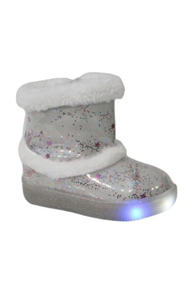 220.p20k.108 Beyaz (26-30) Işıklı Çocuk Ayakkabı Bot