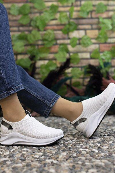 Kadın  Beyaz Sneaker 00121805