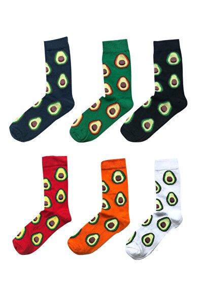 Neşeli Avakado 6'lı Çorap Kutusu