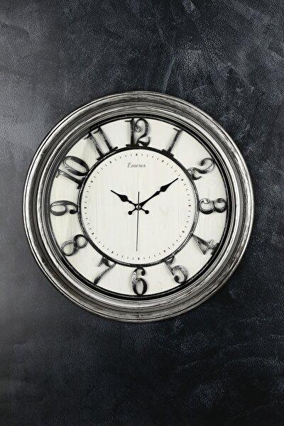 Akar Saniye Sessiz Mekanizma Dekoratif Duvar Saati 46 Cm