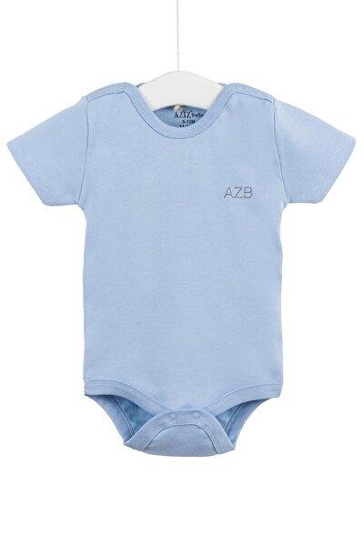 Unisex Bebek Kısa Kollu Çıtçıtlı Badi 0-12 Ay