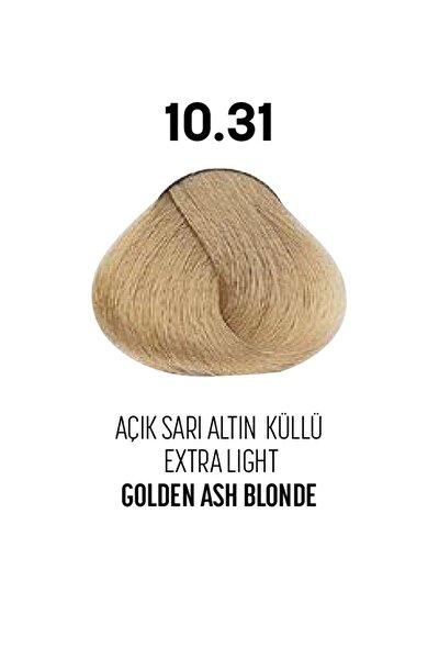 10.31 / Açık Sarı Altın Küllü - Extra Light Golden Ash Blonde - Glamlook Saç Boyası