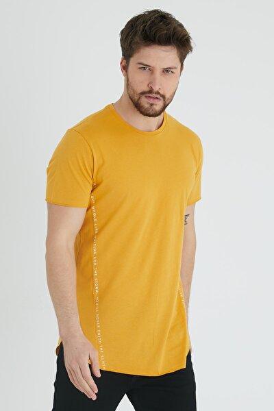 Hardal Yanı Baskılı T-shirt 1kxe1-44621-37