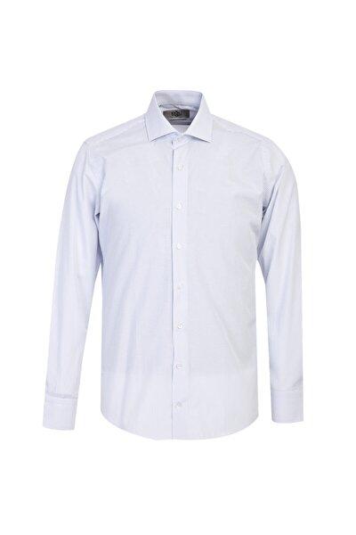 Uzun Kol Slim Fit Çizgili Gömlek