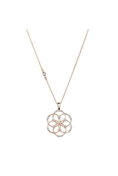 Yaşam Çiçeği Figürlü Gümüş Kolye