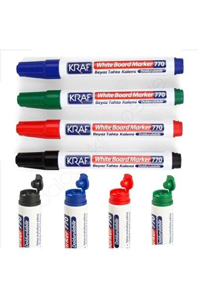 Doldurulabilir Beyaz Tahta Kalemi 4 Renk Set
