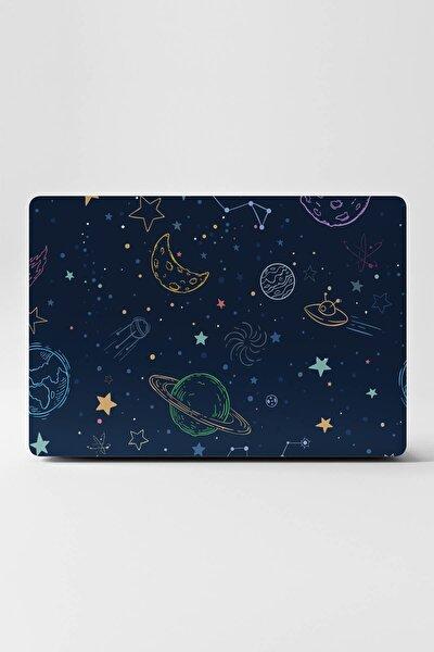 Mavi Uyumlu Laptop Sticker Kaplama Notebook Macbook Galaksi Gezegenler Evren