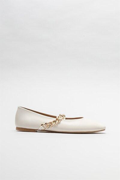 Kadın Naturel Deri Günlük Ayakkabı