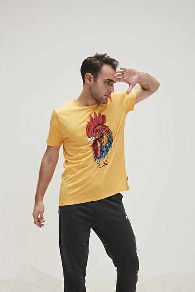 Erkek Sarı T-Shirt Rooster 200107006-MUS