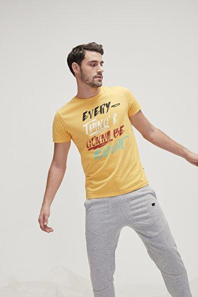 Erkek Sarı Alrıght Tee T-Shirt  20.01.07.037mustard